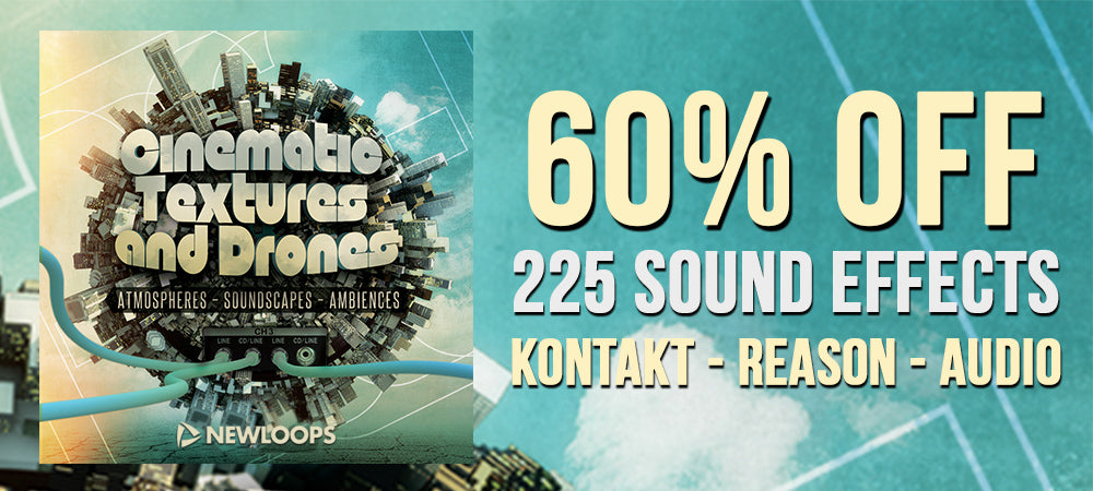 60% Off Cinematic Textures and Drones Sound Effects