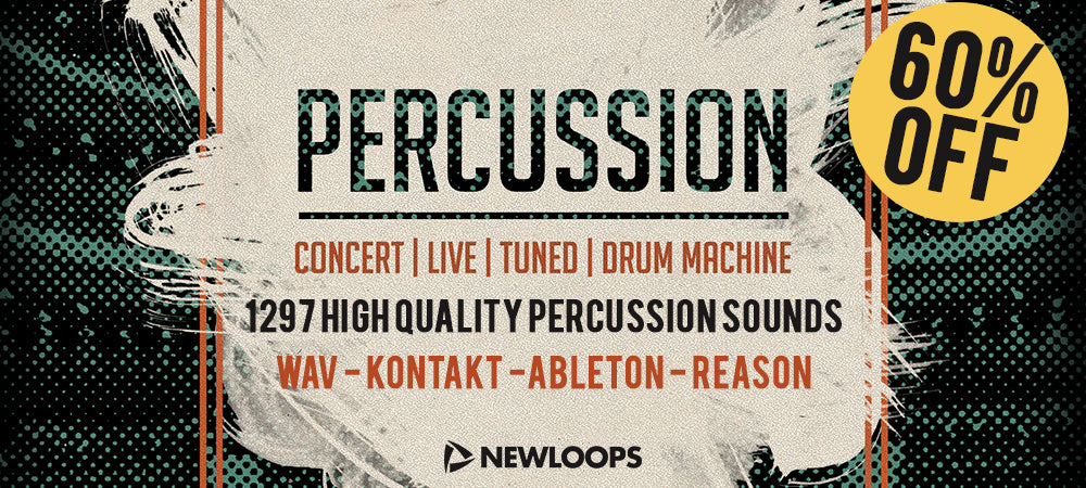 60% Off Percussion Sample Pack