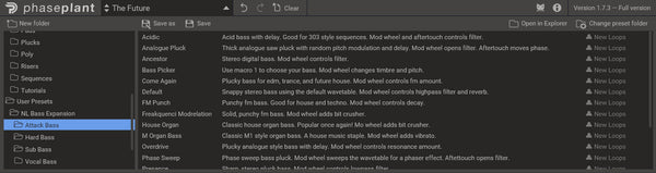 Phase Plant Presets Browser