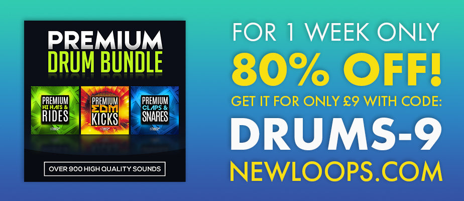 80% OFF Premium Drum Bundle