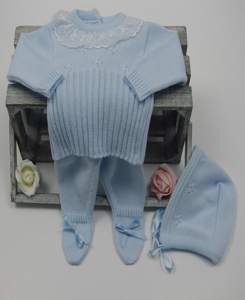 Baby Boy Spanish Three Piece Knitted Set Bailey Buttons Boutique