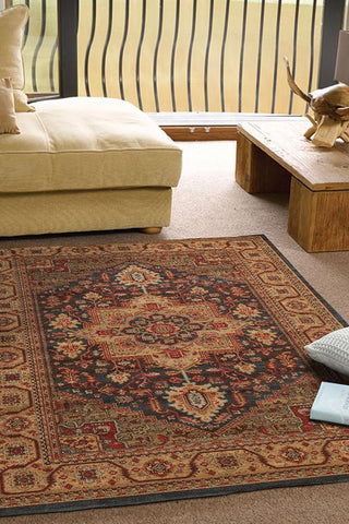 230x160cm Antique Heriz Rug - Multi Floor Rugs
