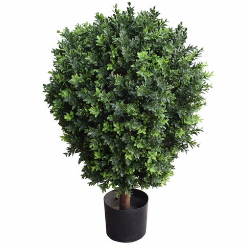 UV Resistant Artificial Topiary Shrub (Hedyotis) 80cm Millhouse Lane Homewares decor