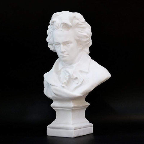Beethoven Sculpture - White Sculptures