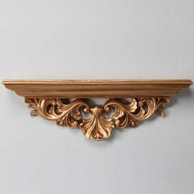 gold Carved Wall Shelf - 3 colours