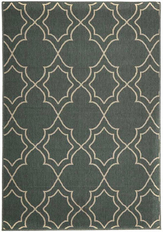 Floor Rugs 160X110cm Casablanca Outdoor Rug - Teal
