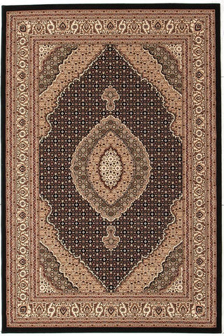 Traditional Stunning Formal Oriental Design Rug Black