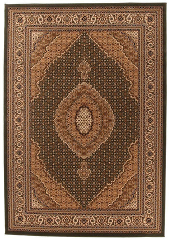 Traditional Stunning Formal Oriental Design Rug Green