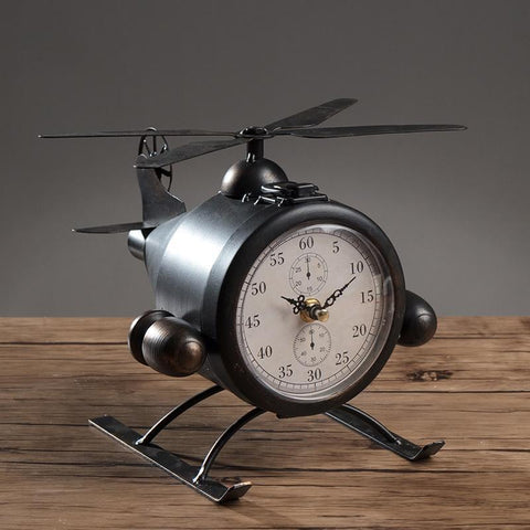 Helicopter Desk Clock