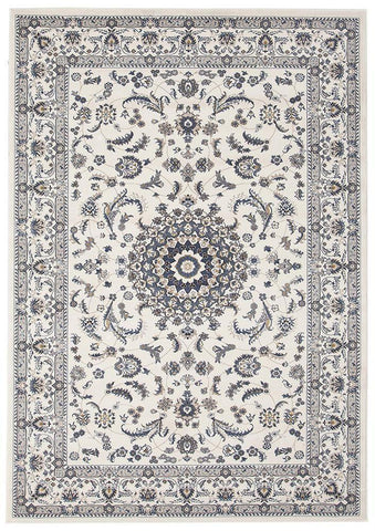 Floor Rugs 170X120cm Manal Oriental Rug -Rectangle - White White