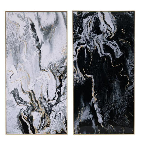 Canvases Marbled Prints - set of 2