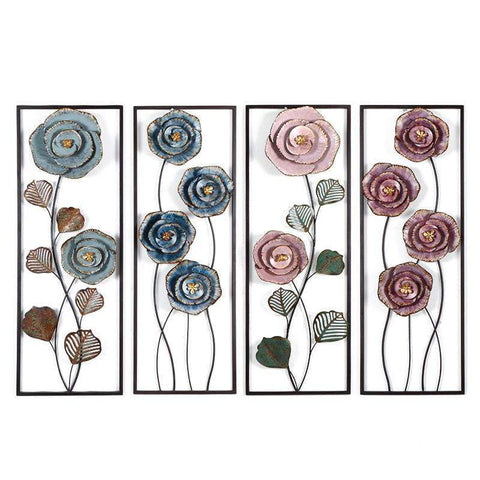 A Metal Flowers Wall Art - 4 styles Wall Art