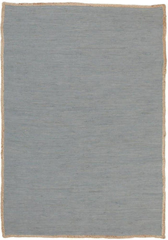 Natural Reno Cotton and Jute Rug Blue
