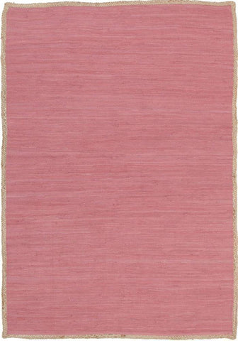 Natural Reno Cotton and Jute Rug Pink