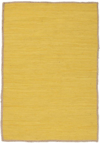 Natural Reno Cotton and Jute Rug Yellow