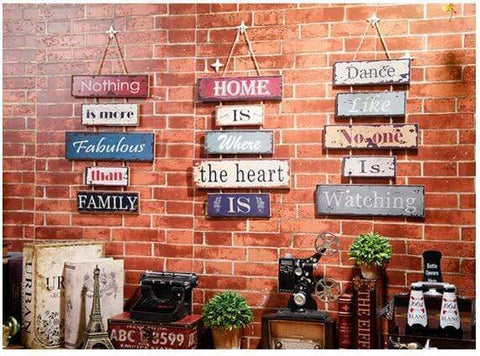 A Retro Industrial Wall Signs - 3 styles Wall Art