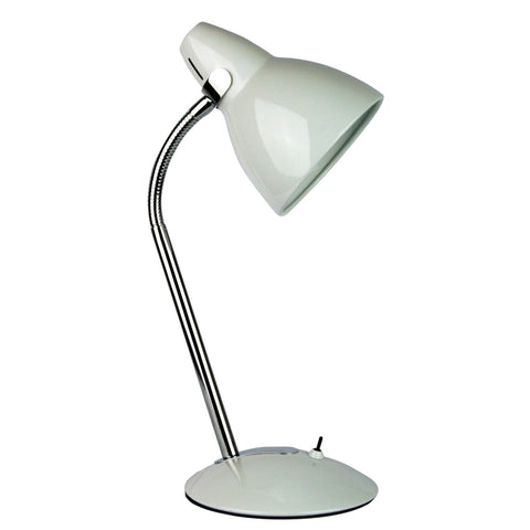 Trax Desk Lamp White Classic Metal Desk Lamp