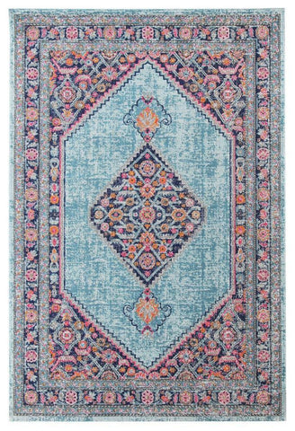 Modern Whisper Diamond Blue Rug