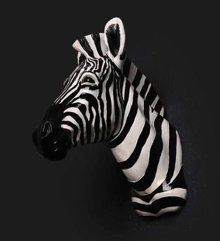 3 Zebra Head 3D Wall Art - 3 colours
