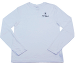 Net Effect, White Long Sleeve T-Shirt