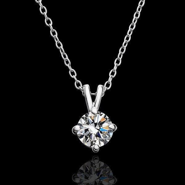 18K Real Gold Plated Crystal Pendant Necklace - 786shop4you