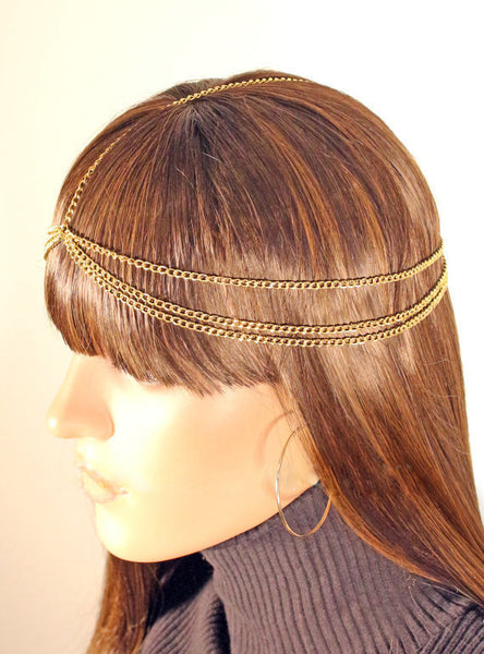 Decorated Three Layer Hair Chain - 786shop4you