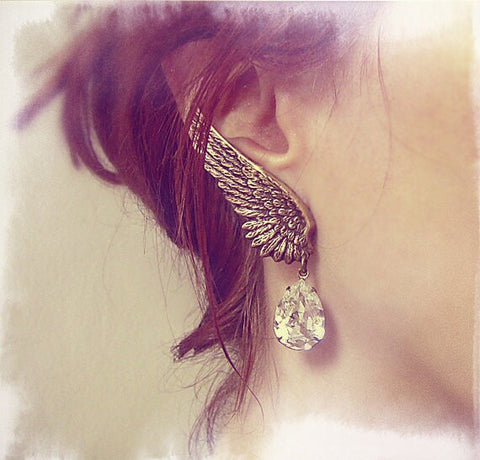 Angel Wings Crystal Earring - 786shop4you