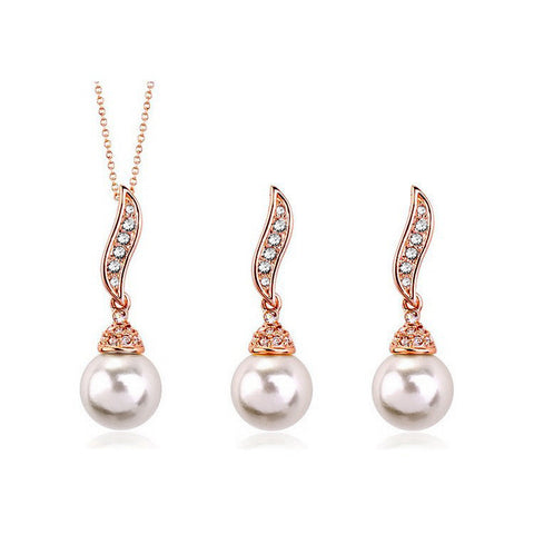 Angel Wings Pearl Necklace Set DLT - 786shop4you