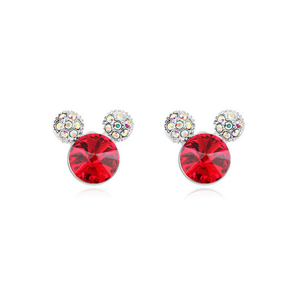 Rhinestone Crystal Mickey Mouse Earring - 786shop4you