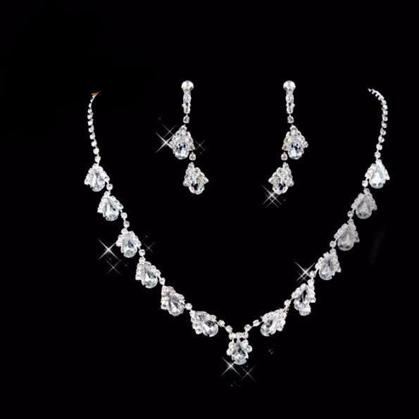 Water Drop Necklace Set F8 - 786shop4you