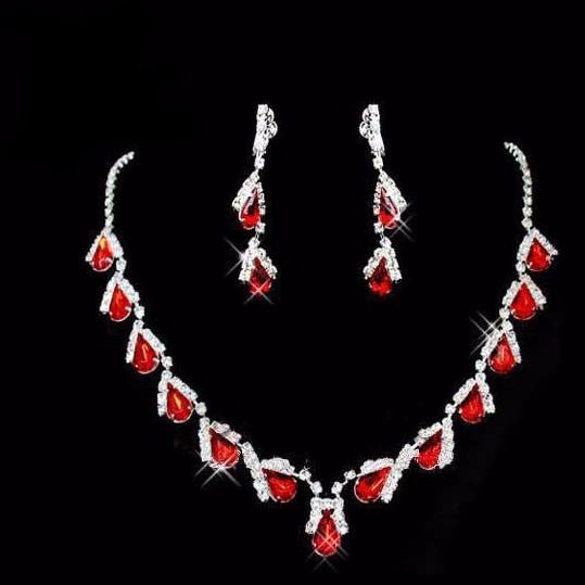 Water Drop Necklace Set F8