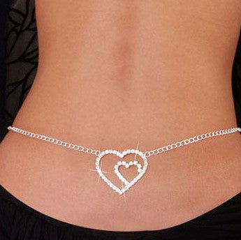 Rhinestone Snake Chain Waist Belly Navel Chain - 786shop4you