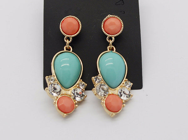 2Tone Crystal Earring - 786shop4you