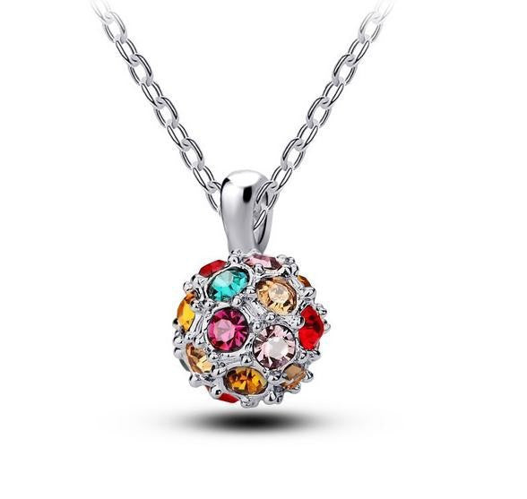 Multicolor Crystal Necklace