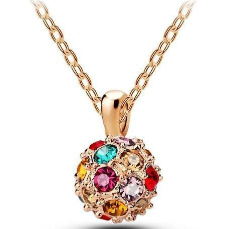 Multicolor Crystal Necklace - 786shop4you
