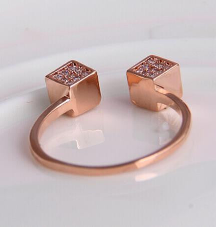 Square 18K Gold Plated Ring