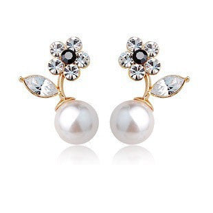 Austrian Crystal Pearl Earring - 786shop4you