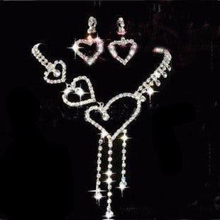 Heart Shape Alloy Necklace Set DLT - 786shop4you