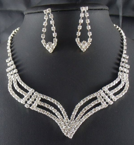 Crystal Rhinestone Necklaces Set F8 - 786shop4you