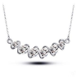 Twisted Short-Chain Crystal Necklace - 786shop4you