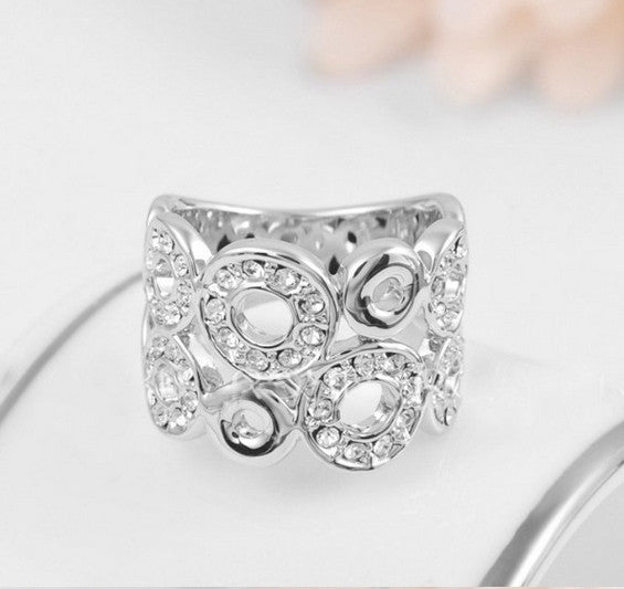 Austrian Crystal Silver Ring - 786shop4you
