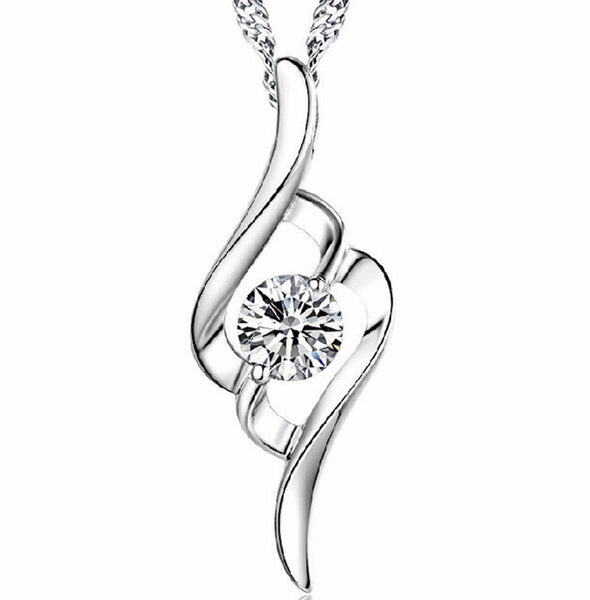 Silver Plated  Pendant Necklace - 786shop4you