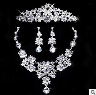 Crystal Butterfly Rhinestone 3 Piece Necklace Set DLT - 786shop4you