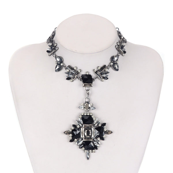 Crystal Choker Statement  Necklace  2 in One