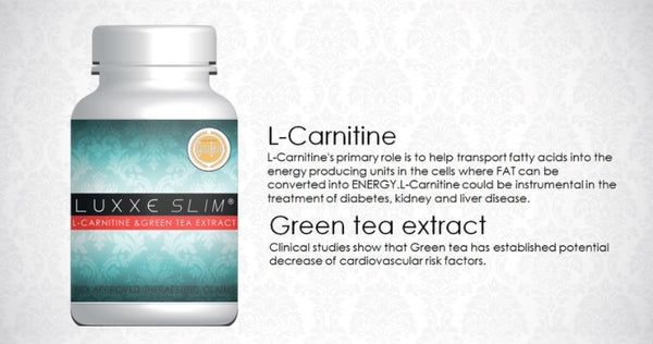 Luxxe Slim L-Carnitine & Green  Tea Extract ~ 60 Capsules - 786shop4you