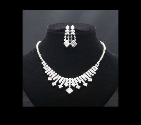 Crystal Gem Necklace Set DLT - 786shop4you