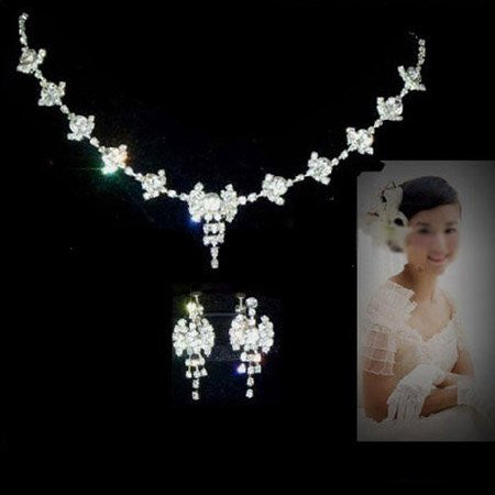 Fairy Stars Crystal Necklace Set F8 - 786shop4you
