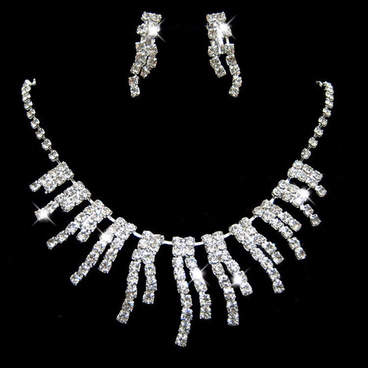 Crystal Drop Necklace Set - 786shop4you