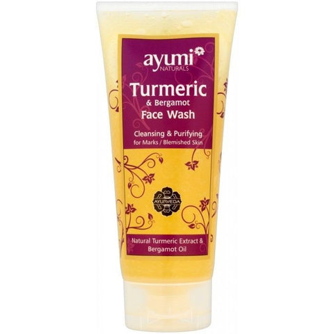 Ayumi Natural Face Wash - Wild Turmeric & Bergamot ~ 200ml - 786shop4you