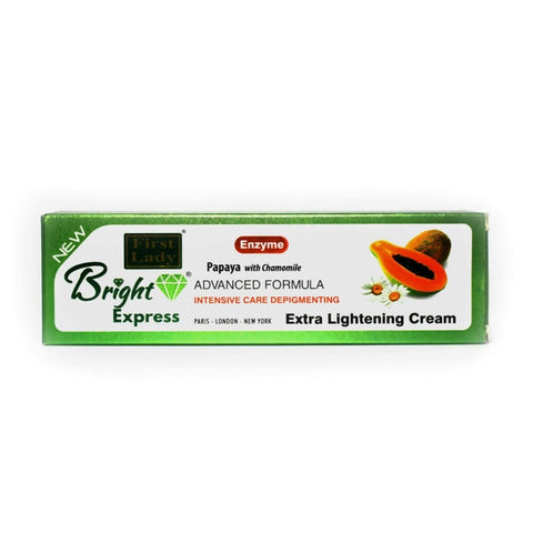 FIRST LADY BRIGHT EXPRESS PAPAYA WITH CHAMOMILE EXTRA LIGHTENING CREAM (TUBE) 50G - 786shop4you